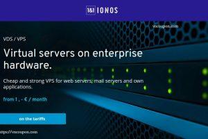1&1 IONOS – vServer 最低 €1每月 in Germany & 美国