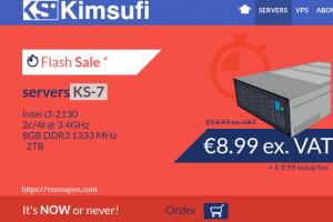 Kimsufi OVH – 特价机 独服 最低 $4.99每月 – [Flash Sale] Server KS-7 仅 €8.99每月