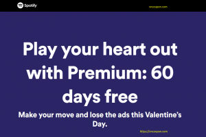 [Valentine's Day 2019] Spotify – Premium 免费for 60 days