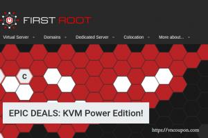 First Root – 特价机 KVM VPS with永久折扣 最低 $20每年