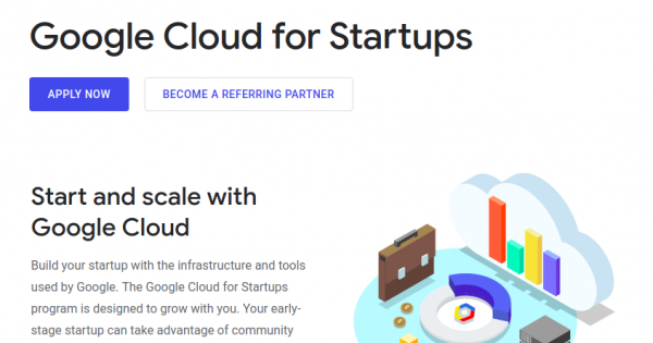 Get 最高$100,000 worth of Google Cloud Platform credit for your startup