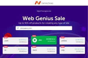 Namecheap 优惠券 & 优惠码 for 三月 2019 – 优惠20% Registration, 续费& 流量 .COM 域名