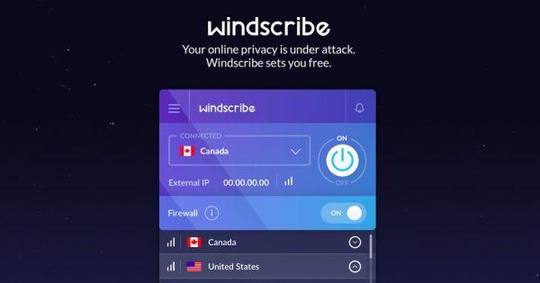 Windscribe VPN Service – 节省 优惠55% for 年付 Plan