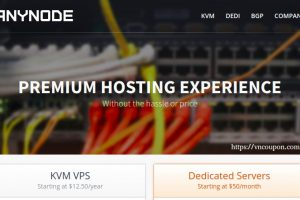 anyNode – VPS 最低 $12.50每年, Resource Pools 最低 $12每年 in 洛杉矶 & Miami