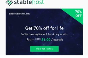 StableHost 优惠券 & 优惠码 in 七月2019 – Super Offer – 终身优惠70% on 虚拟主机!