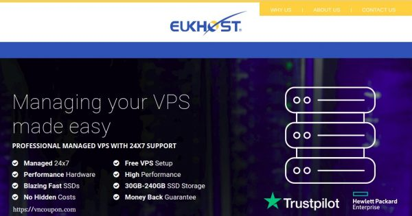 eUKhost – Managed VPS 最低 $12每月 – Hot deals today GET 优惠50%!