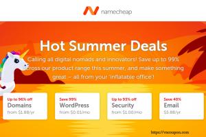 Namecheap 优惠券 & 优惠码 for 七月2019 – Hot 夏季 Deals – 最高优惠96% 域名
