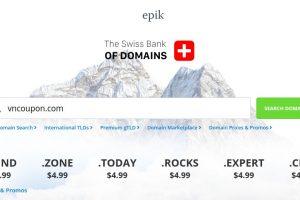 Epik 优惠券 & 优惠码 on 四月2020 – 域名 Registration 最低 $0.79 for 首年 – 流量 .COM 仅 $6.99