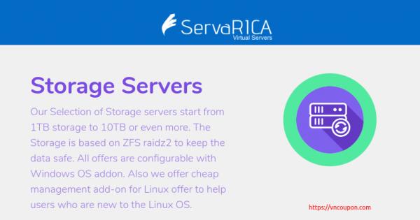 ServaRICA – 大硬盘 VPS With 1.5TB 硬盘容量 & 无限 流量 仅 $7每月