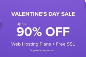 [Valentine's Day 2020] Hostinger – 优惠90% 虚拟主机 仅 $0.80每月 + 免费域名