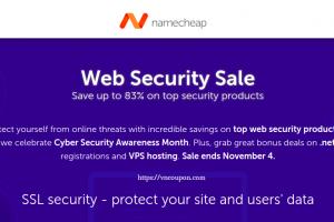 Namecheap 优惠券 & 优惠码 for 十一月2019 – Web Security Sale – Save 最高优惠83%