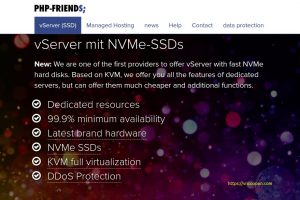 PHP-Friends – vServer Schnupperspecial 2019 – 6 GB内存only $4每月