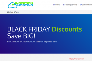 Inception Hosting 黑色星期五 2020 – UK/London KVM (NVMe) deals 优惠50% + extra disk + 免费DA