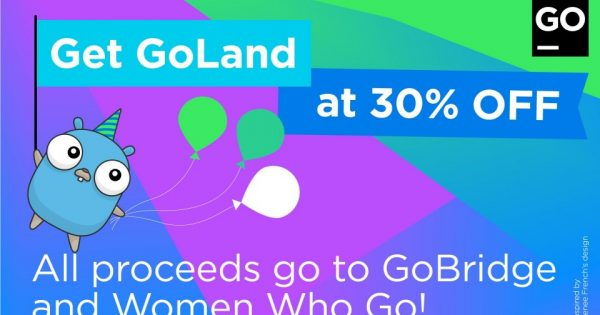 JetBrains – 优惠30% GoLand IDE License, Support Women Who Go、GoBridge