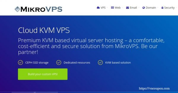 MikroVPS – Cloud KVM VPS with DMCA free