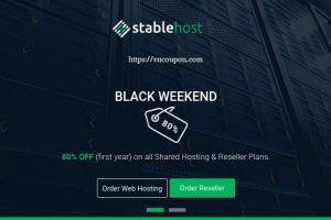 StableHost 优惠券 & 优惠码 in 十二月2019 – 优惠50% for 虚拟主机