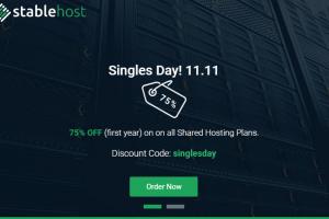 StableHost 优惠券 & 优惠码 in 十一月2019 – Singles Day 11.11 – 优惠75% on 虚拟主机!