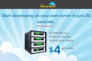 BinaryLane – Australian KVM VPS service 最低 AU$4每月