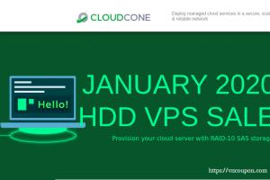 CloudCone 按小时计费 KVM 提供 –半托管型 云服务器 最低 $17.5每年