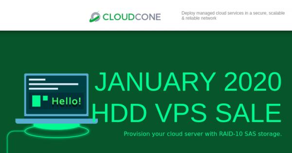 CloudCone 按小时计费 KVM 提供 –半托管型 云服务器 最低 $12.5每年