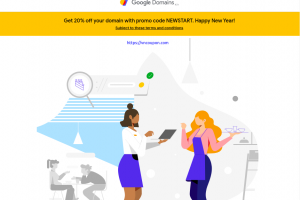 [New Year 2020] Google 域名 – 优惠20% for New 域名 Registration