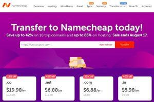 Namecheap 流量 Week Sale – Save 最高42% 域名、最高65% on Hosting