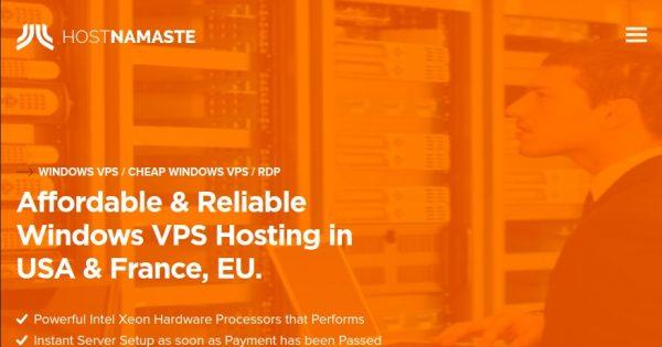 HostNamaste – Cheap 年付 Windows VPS Deals in 4位置