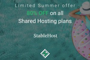 [夏季Sale] StableHost – 优惠80% on 虚拟主机! 免费域名  .COM, .NET, .BIZ or .INFO