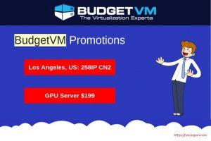 [八月优惠信息] BudgetVM –  独服 最低 $44每月