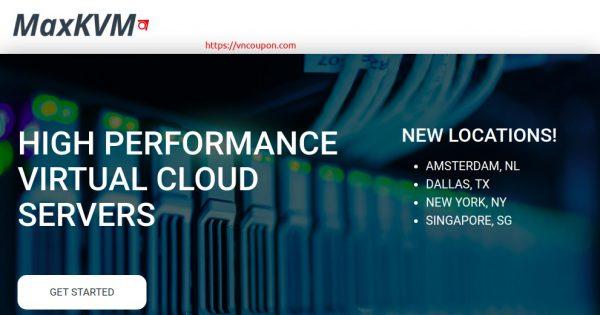 MaxKVM – 特价机 KVM VPS 提供 最低 $5每月 + 优惠50% 优惠信息code