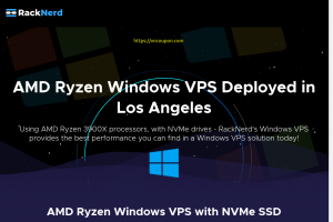 RackNerd – 优惠30% AMD Ryzen Windows VPS with NVMe SSD 最低 $10.21每月