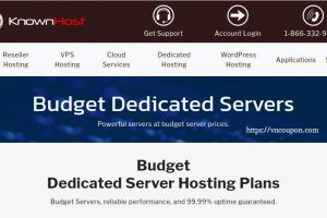 KnownHost Budget Dedicated 最低 $41.65每月 (32G RAM) – 免费DirectAdmin – 优惠60% your first month