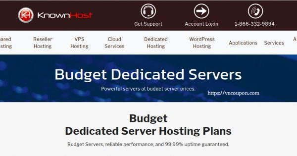 KnownHost Budget Dedicated 最低 $41.65每月 (32G RAM) – 免费DirectAdmin