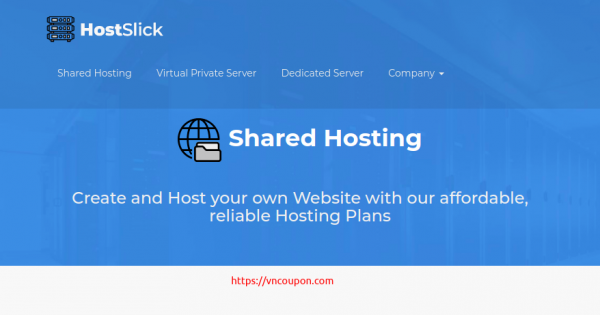 HostSlick –  优惠50% on all 虚拟主机套餐 最低 €7.5每年