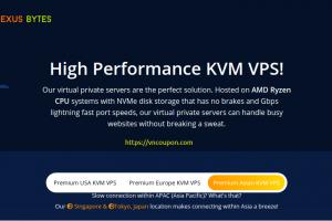 [黑色星期五 2020]  Nexus Bytes – Upto 优惠25% VPS, 虚拟主机 Services