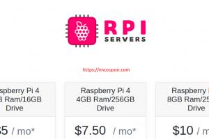 RPIServers – Raspberry Pi Hosting 最低 $5每月 – 4GB RAM/16GB Storage Drive