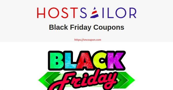 HostSailor 黑色星期五 2020 优惠券 Upto 优惠65%