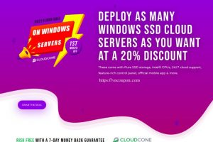 [2021 Flash Sale] CloudCone – Exclusive Windows 云服务器 提供 – 优惠20% in the first month!