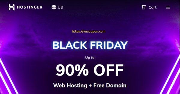 [黑色星期五 2020] Hostinger – 优惠90% 虚拟主机 + 免费域名 + 免费SSL included + Google Ads Credit