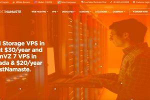 HostNamaste Deals – KVM Storage VPS US 最低 $30每年、OpenVZ 7 VPS 最低 $20每年!