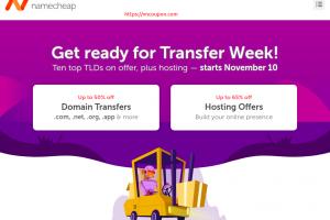 Namecheap 流量 Week Sale – Save 最高优惠50% 域名、最高优惠65% on Hosting