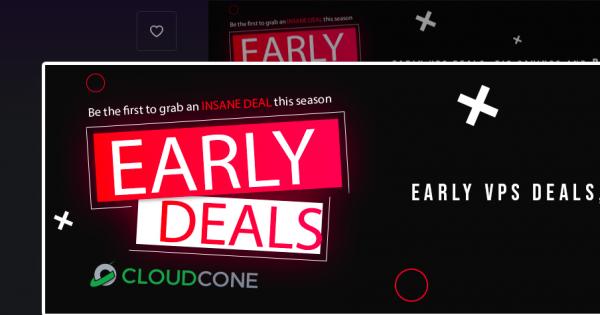[Pre-黑色星期五 2020] CloudCone – 高性能 VPS starting at $1.90每月