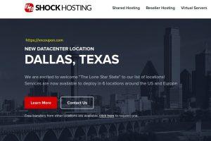 Shock Hosting – 终身优惠65% 独服 最低 $35每月 in Dallas, TX