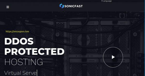 SonicFast – 5GB内存OpenVZ VPS 仅 €5.3每月 – 100Gbps DDoS防护