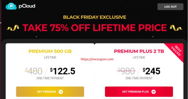 pCloud 黑色星期五 2020 Deals – 优惠75% Lifetime Cloud Storage 最低 $122.5