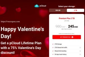 [Valentine Day 2021] pCloud – 75%折扣 Cloud Storage Lifetime Plan
