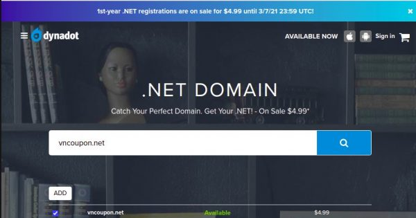 Dynadot – 1st-year .NET 域名 Registrations are on sale for $4.99