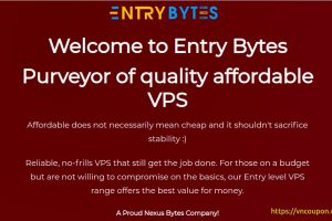 Entry Bytes – Purveyor of quality affordable VPS 提供 最低 $3.75每月