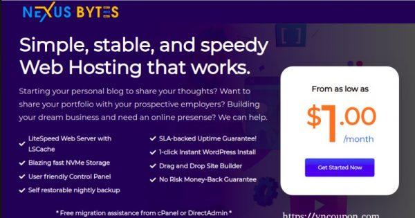 Nexus Bytes Expand to  迈阿密 – 优惠20% Web & 分销型虚拟主机套餐