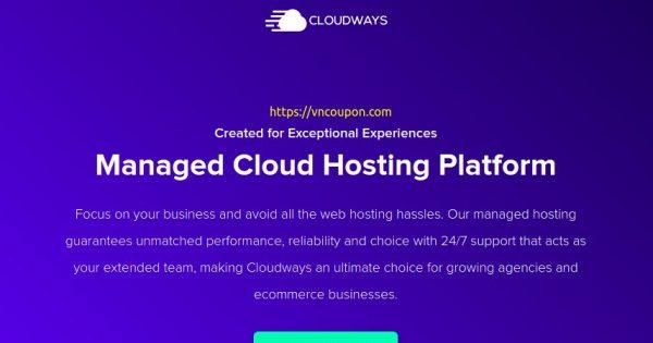 Cloudways 优惠券 on 九月2021 – 优惠30% 优惠券, $30 USD 免费Credits